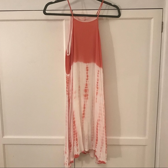 Dresses & Skirts - orange and white tie dye dress